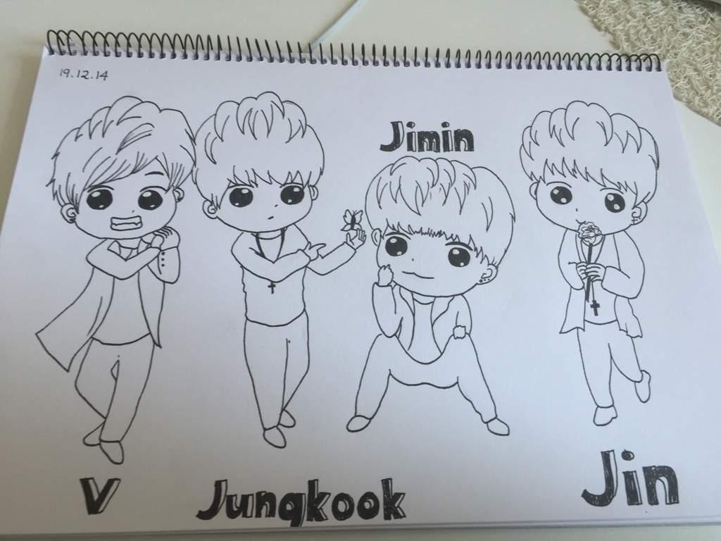 BTS Chibi Drawing
