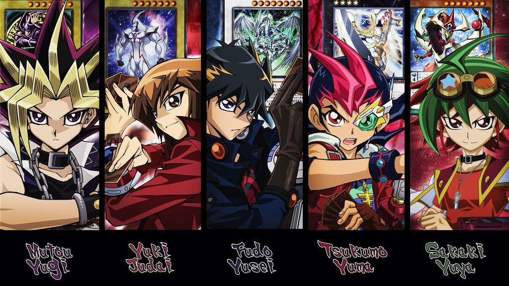 From Left To Right Yugioh GX 5ds