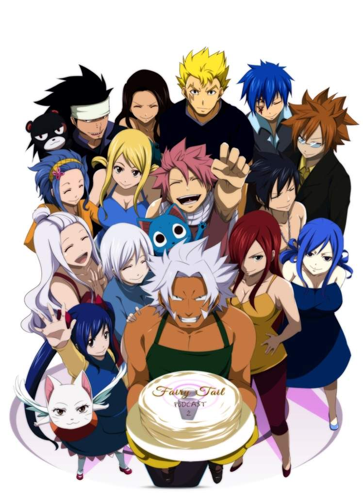 Fairy Tail Anime Birthday Cake