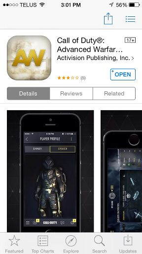 cod advanced warfare clan app