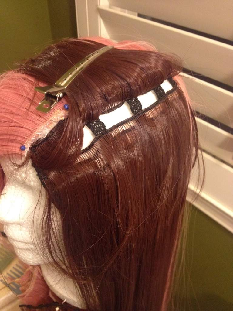 sewing a wig to your head