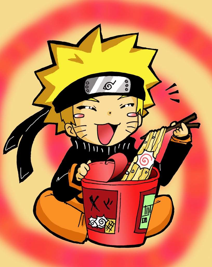 naruto eating ramen coloring pages - photo#14