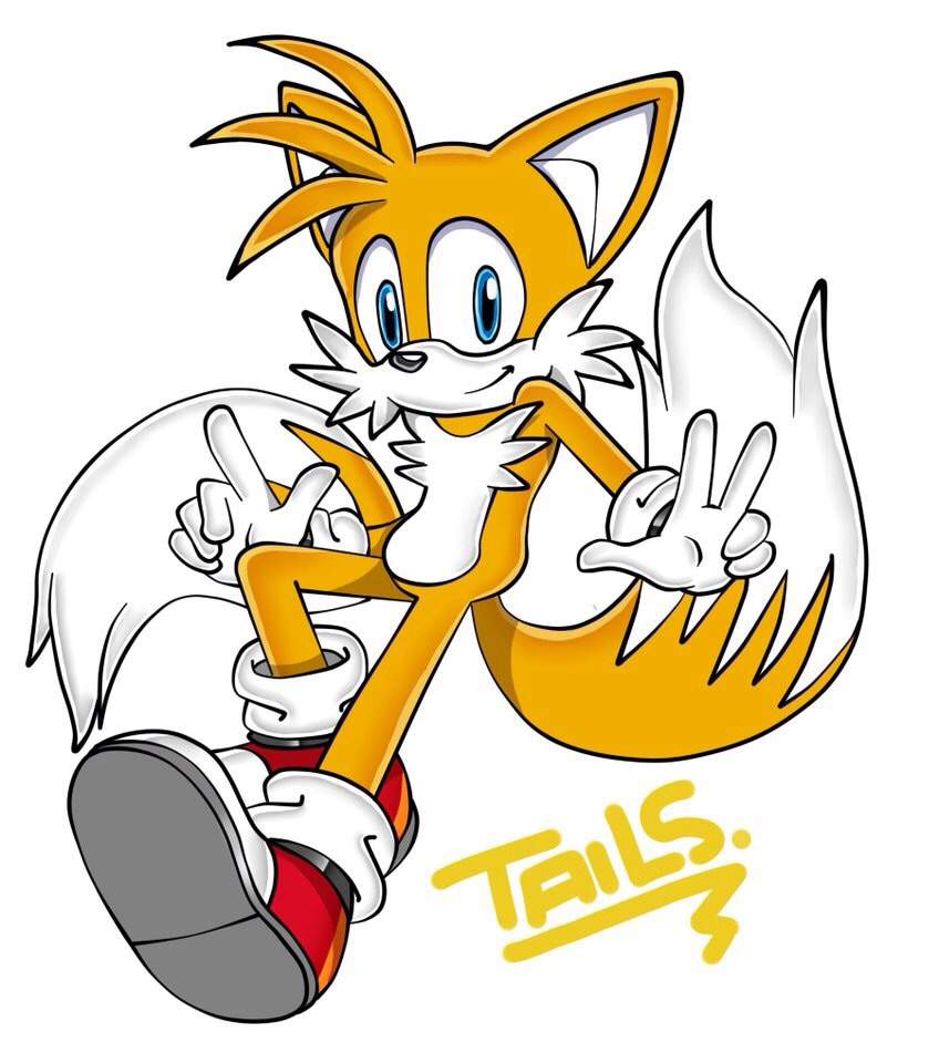 how to draw classic tails
