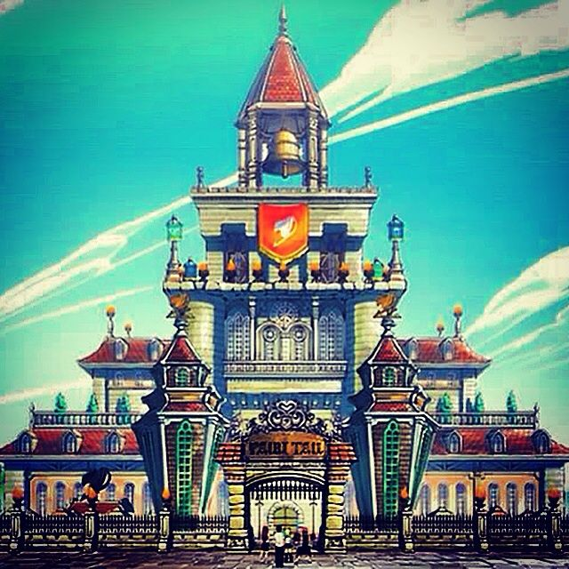 Fairy tail guild hall minecraft build Part 2 | Anime Amino