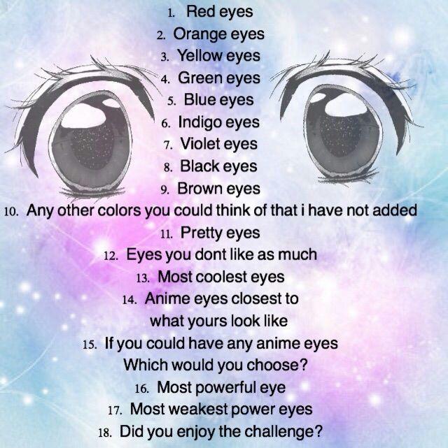 Eye Challenge Anime Amino