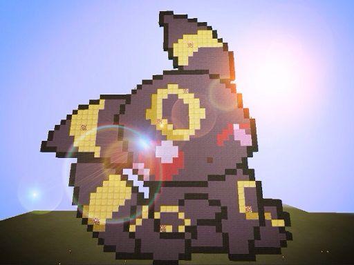 Mcpe Pixel Art 1 Umbreon Minecraft Amino
