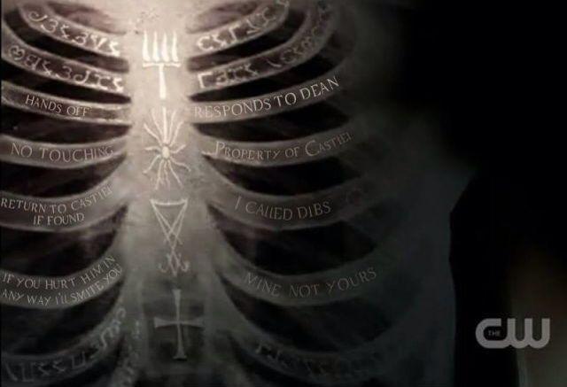 What deans ribs really say ☺️   Supernatural Amino