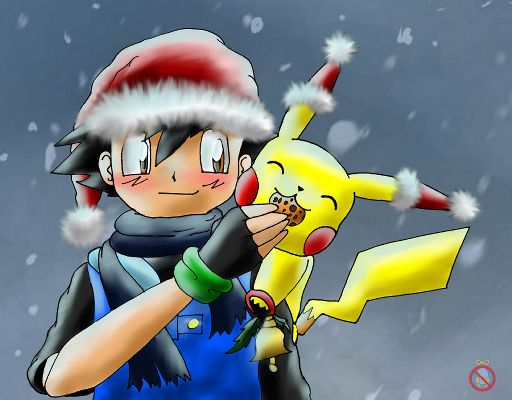 christmas pikachu and ash - Christmas Pikachu