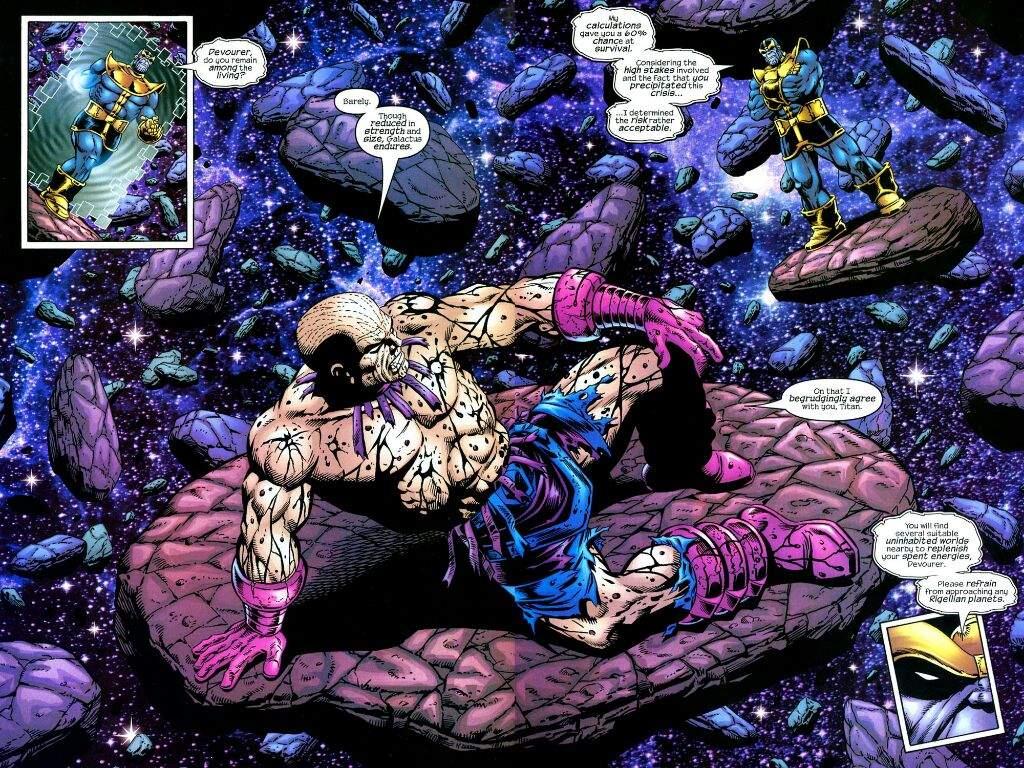Galactus Vs Thanos Comics Amino