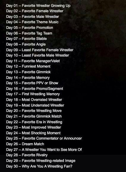 30 Day Wrestling Challenge Day 2 Wrestling Amino