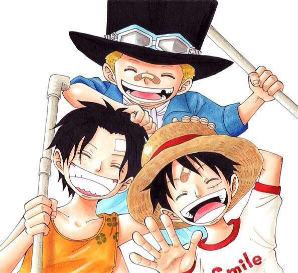 Ace, Sabo and Luffy | Anime Amino