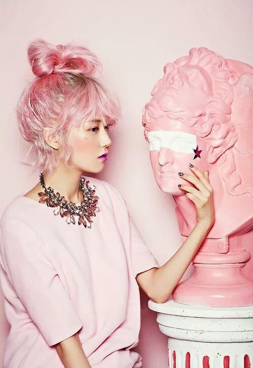 Kpop Idols with Pink Hair | K-Pop Amino
