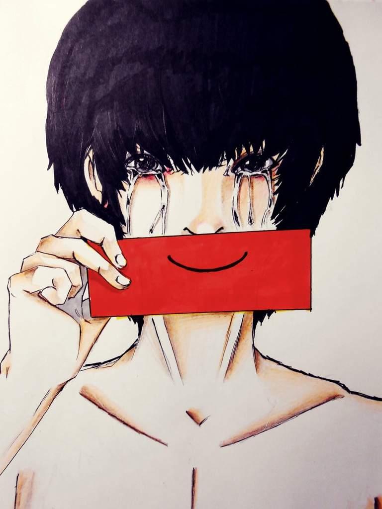 czeshop images anime boy sad smile