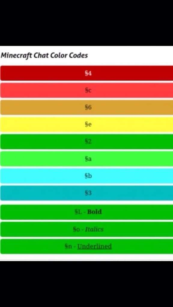 Image Result For Mc Color Codes
