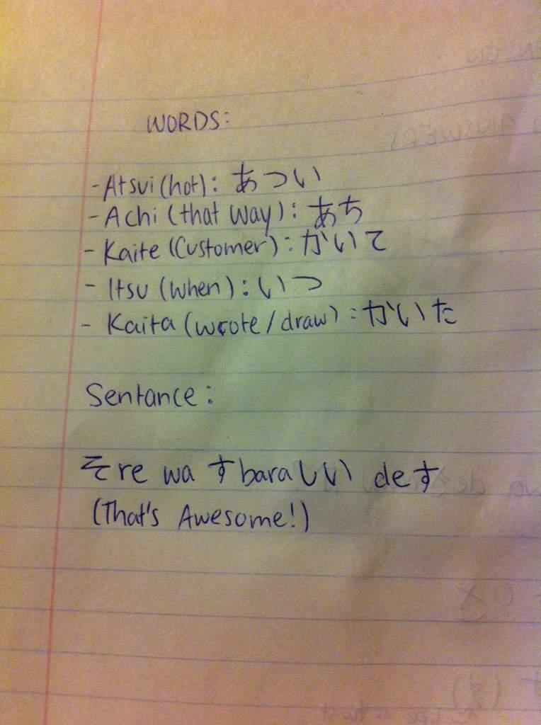 Do Your Homework In Japanese