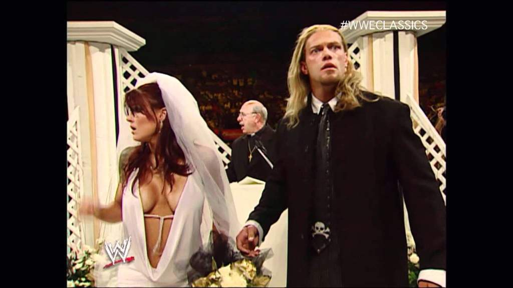 Edge Lita Wedding Wedding of Edge And Lita