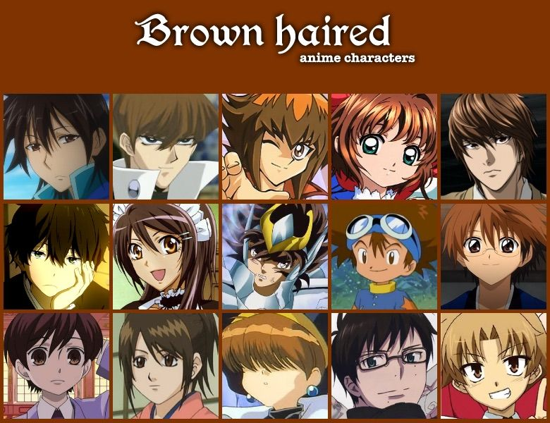 Anime Characters Long Brown Hair : Personality based on hair color anime amino