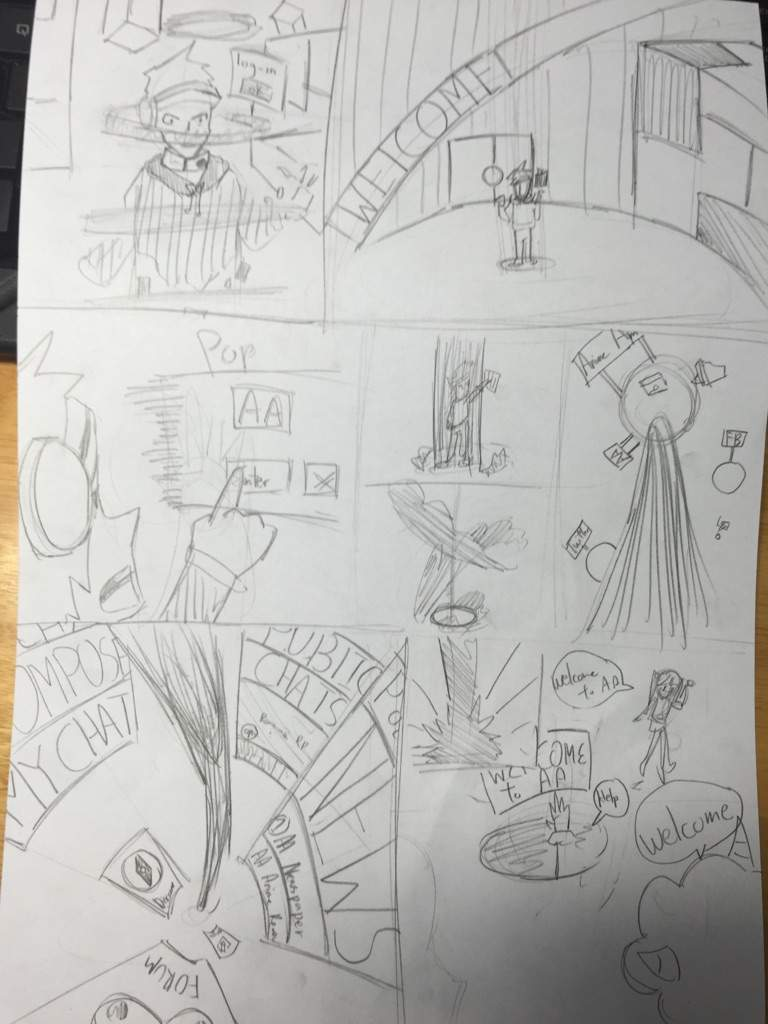 Virtual aa world pg 1 sketched anime amino