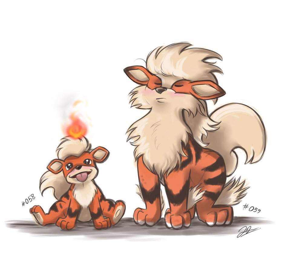 Kanto Pokedex - Growlithe and Arcanine | Pokémon Amino