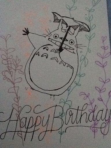 My Neighbour Totoro Birthday Card Wiki Anime Amino