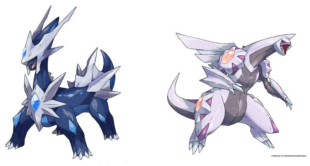 how to draw palkia and dialga