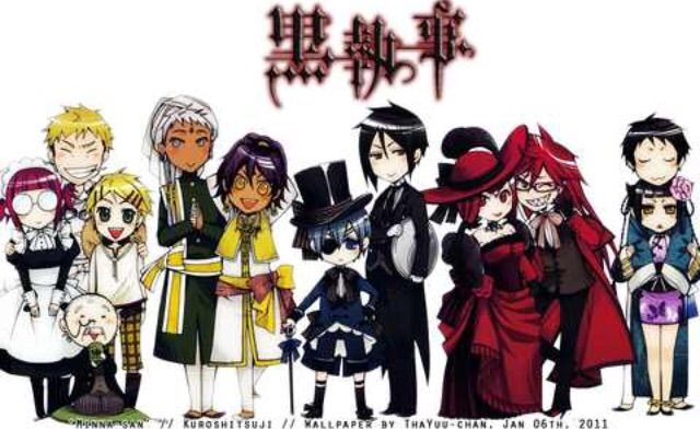 Black Butler Characters Chibi