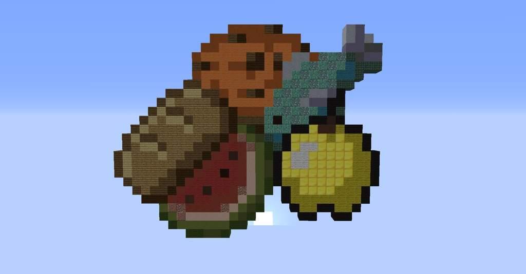 Pixel art!!!! [FoodieChallenge] | Minecraft Amino