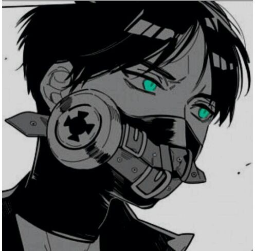 Eren jaeger in a gas mask anime amino - Anime girl with gas mask ...