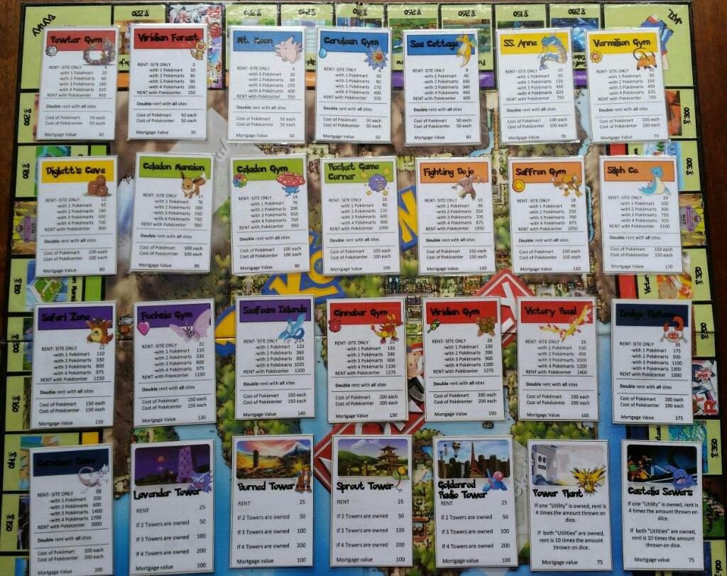 My Homemade Pok 233 Mon Monopoly Board Pok 233 Mon Amino