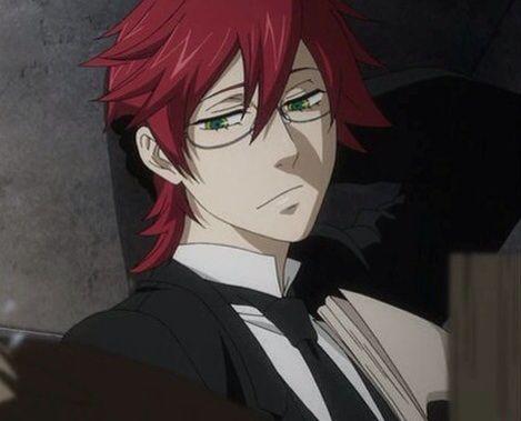 Black hair anime guy blue eyes