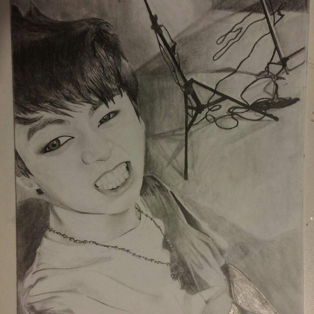 Jungkook Bts Drawings: My Drawing Of Jungkook From Bts Taking A Selfie