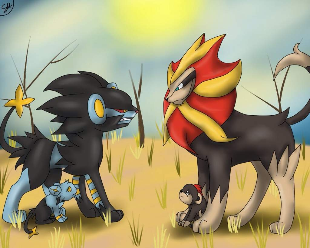 Luxray vs pyroar pok mon amino for Pyroar coloring pages