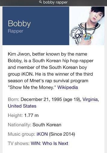 Bobby from ikon   K-Pop Amino