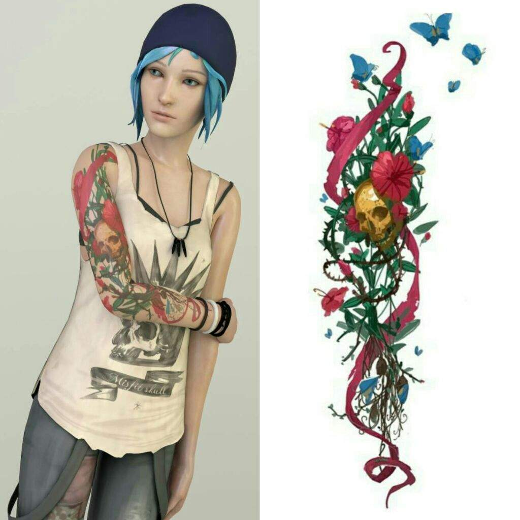 Real chloe price tattoo sleeve progress lifeisstrange for Tattoo sleeve price