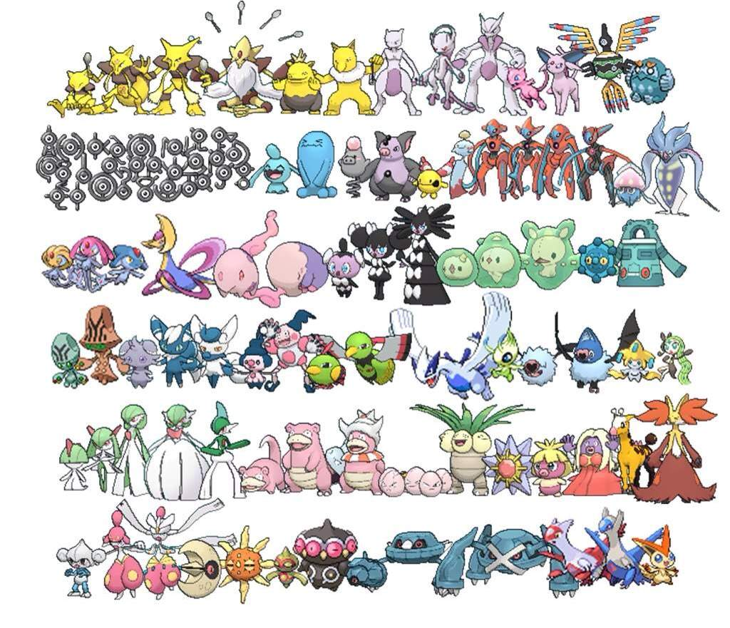My Top 10 Favorite Psychic Type Pokemon Part 1/2 | Pokémon ...
