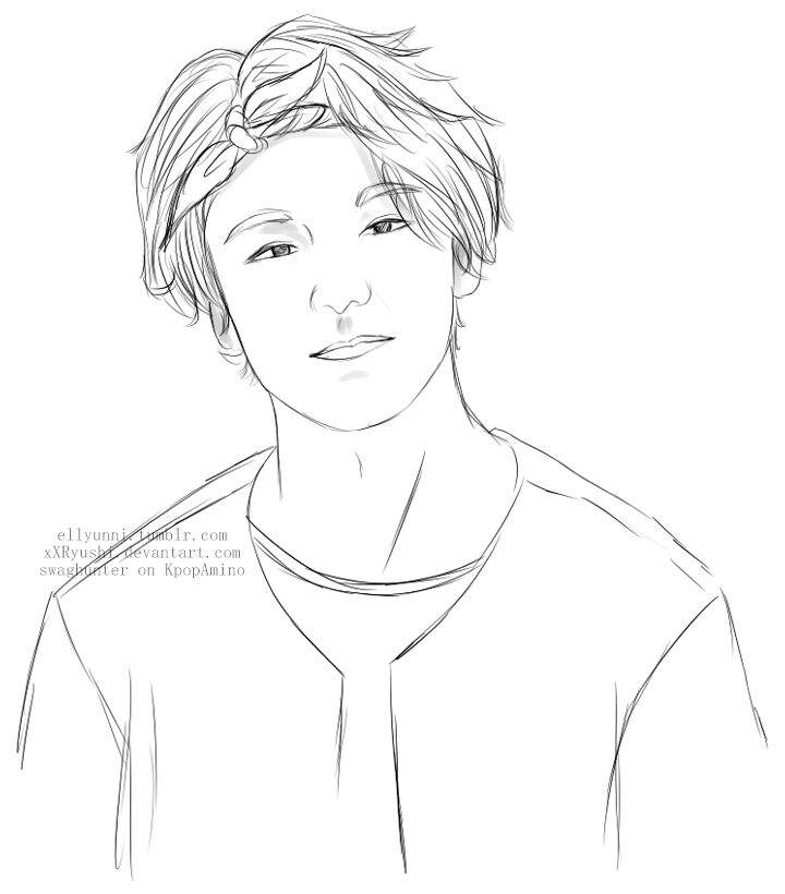 Line Art Kpop : ♦ub sketch requests done♦ k pop amino