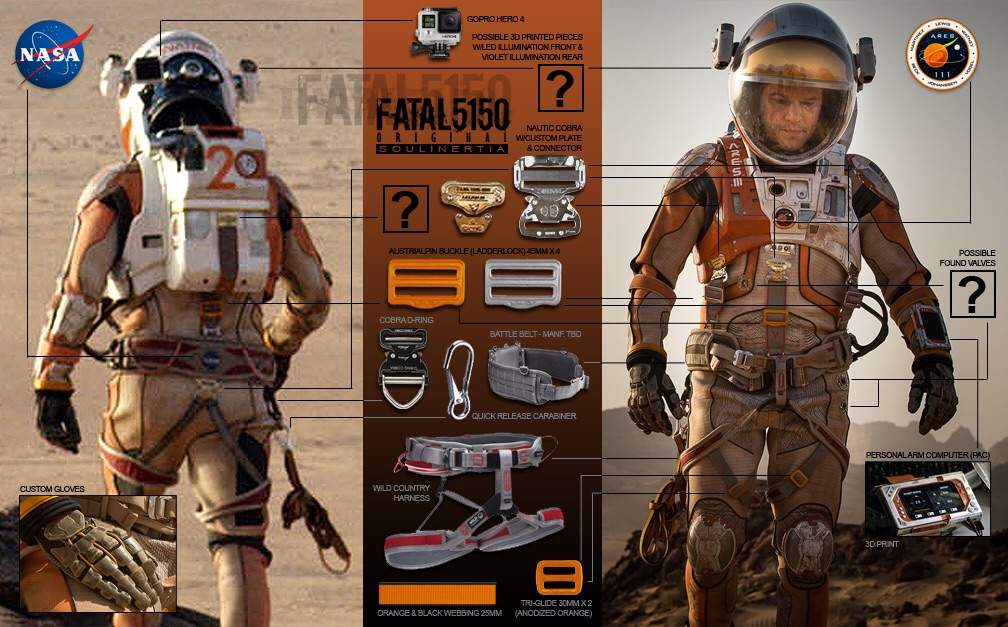 the martian space suit wip
