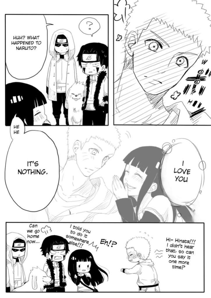 In which episode of Naruto Shippuden do Naruto and Hinata fall in love