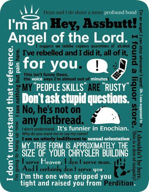 Funny Castiel Quotes: Funny Castiel Quotes!