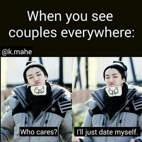 dating yourself meme