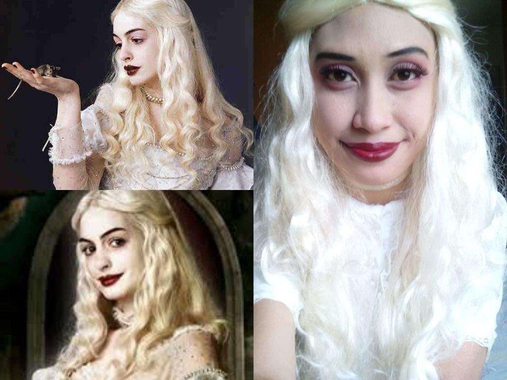White queen makeup