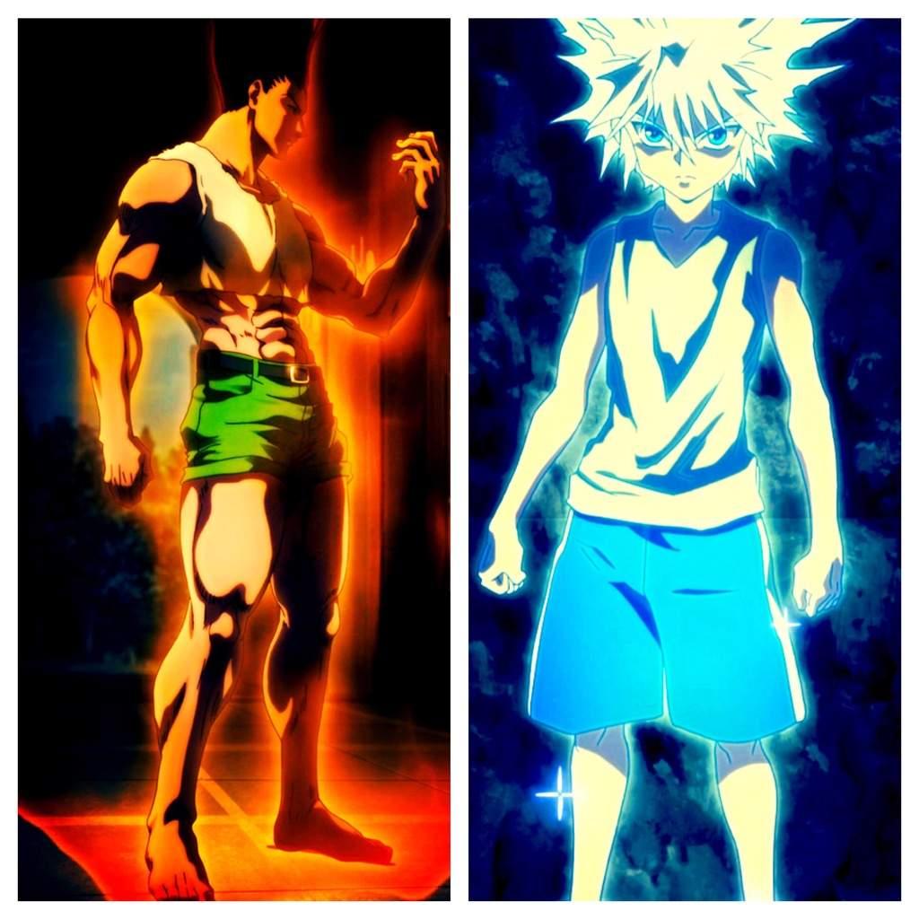 Gon & Killua vs Blueno |