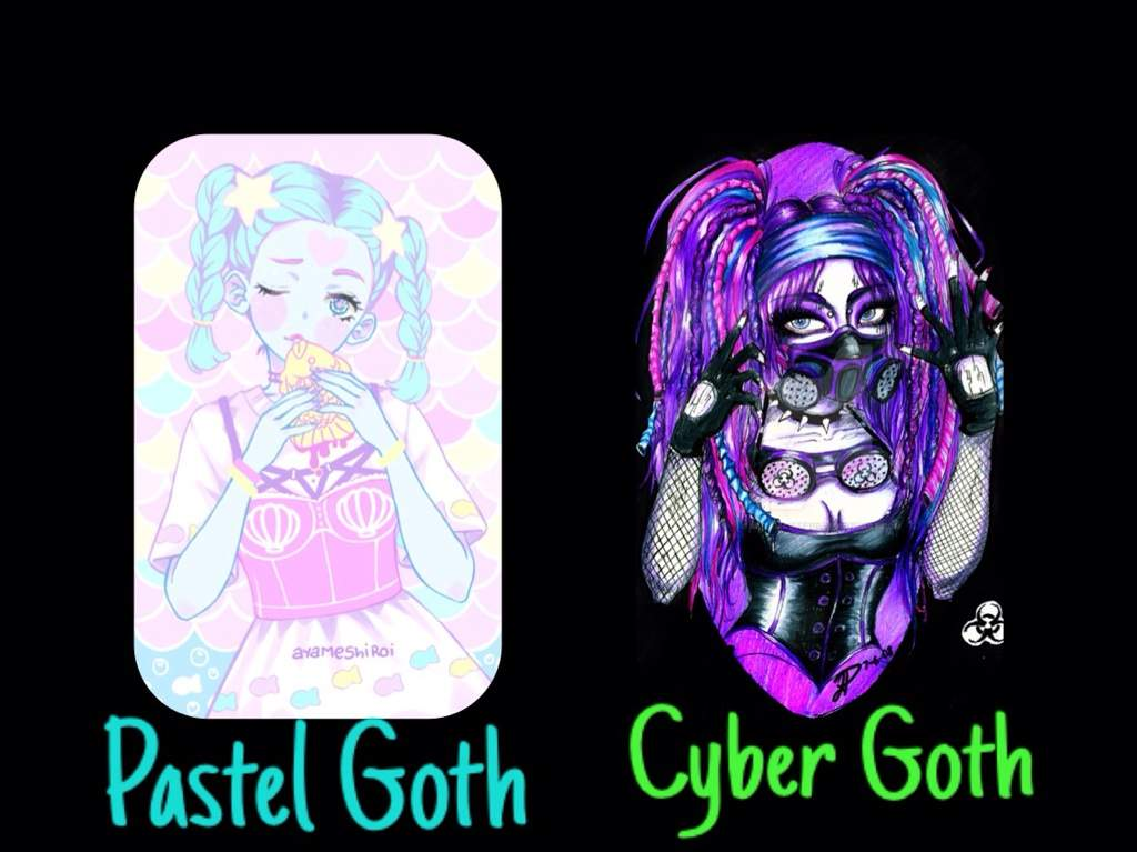 Cyber goth girls with pink hair