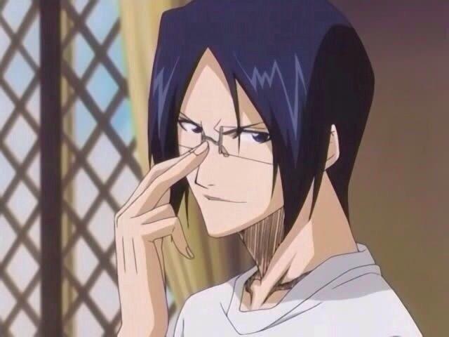 Adjust Glasses Uryuu Anime Gif