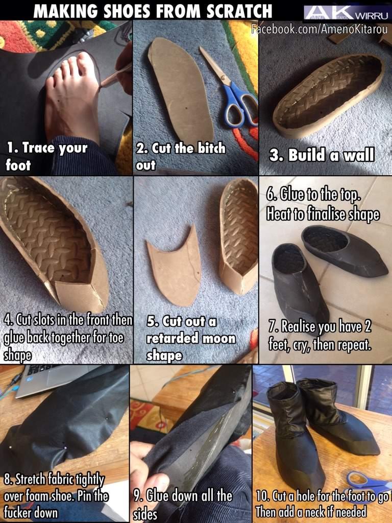 shoe making tutorial cosplay amino. Black Bedroom Furniture Sets. Home Design Ideas