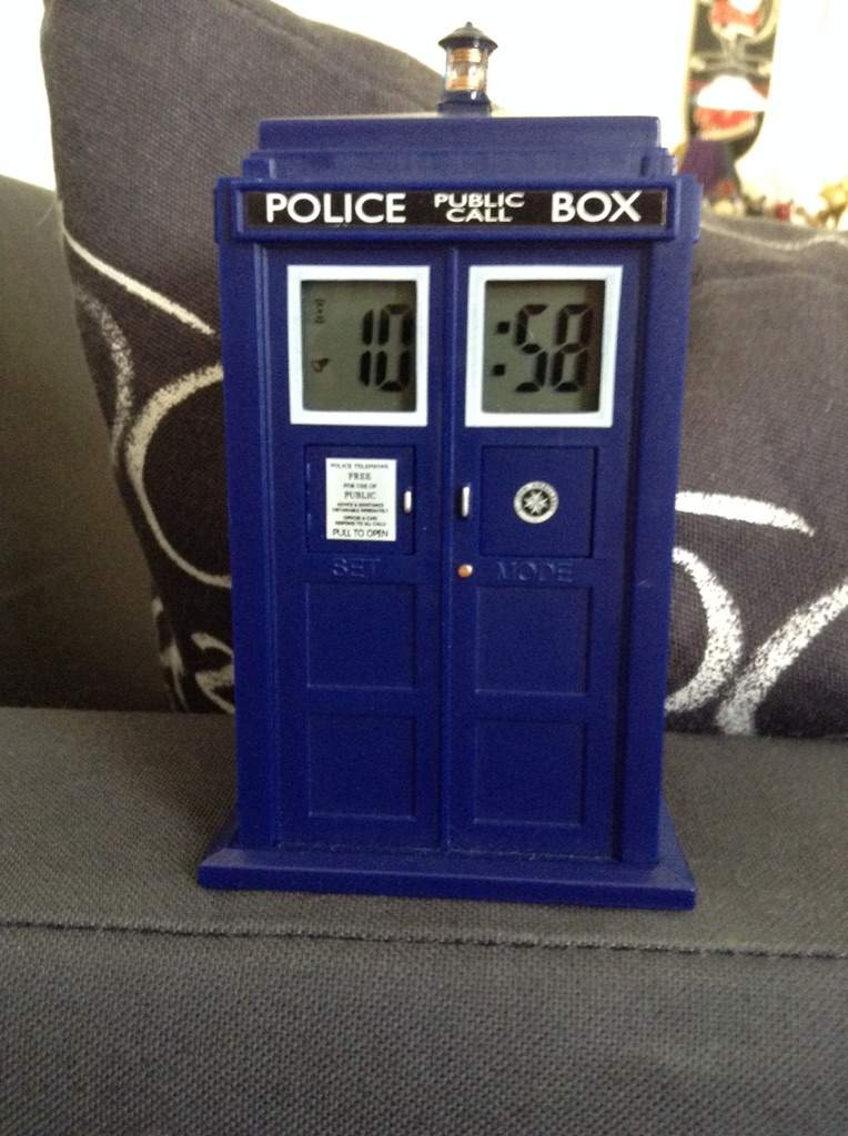 tardis projection alarm clock instructions