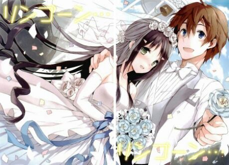 Anime lovers wedding