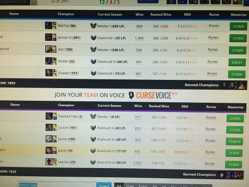 lol ranked 5s matchmaking