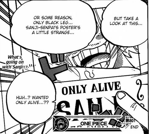 One Piece Sanji Wanted Only Alive Anime Amino