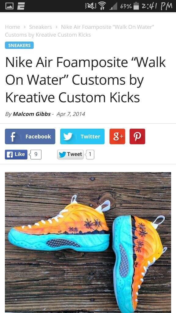 8c067c8af24 usa nike air foamposite walk water customs kreative custom kicks ...